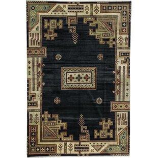 Read Reviews One-of-a-Kind Crown Select Handwoven 12'1 x 17'11 Wool Black Area Rug ByBokara Rug Co., Inc.