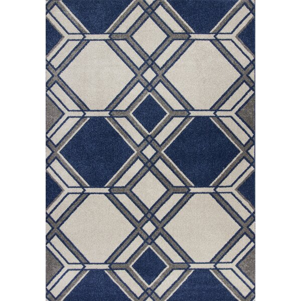 Lynsey Ivory/Denim Indoor/Outdoor Area Rug by Orren Ellis