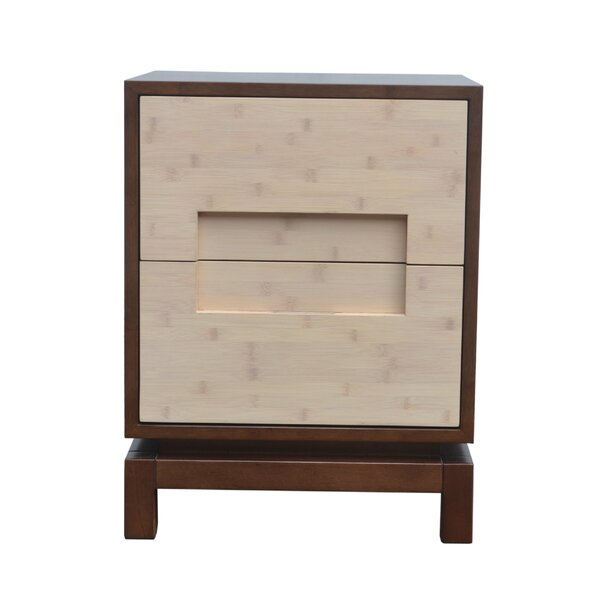 Pulo 2 Drawer Nightstand by Indo Puri