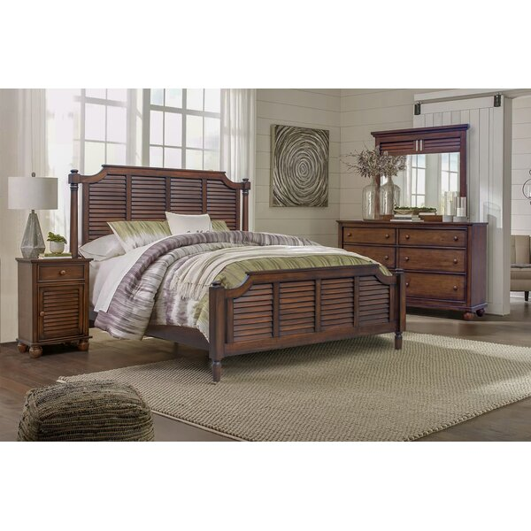 Khang Shutter Wood Standard 5 Piece Bedroom Set by Bayou Breeze
