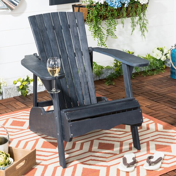 Briaca Solid Wood Adirondack Chair by Highland Dunes Highland Dunes