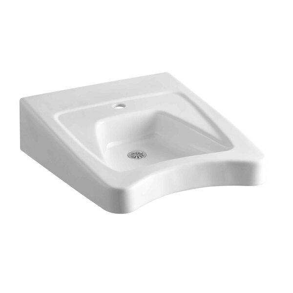 Morningside Ceramic 20 Wall Mount Bathroom Sink with Overflow by Kohler