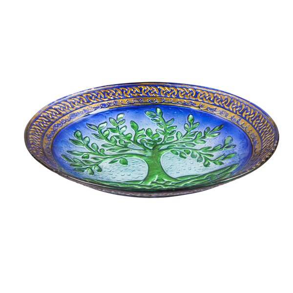 Tree of Life Birdbath by Evergreen Flag & Garden