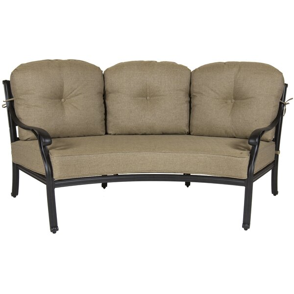 Gadson Castle Rock Crescent Patio Sofa with Cushions by Red Barrel Studio