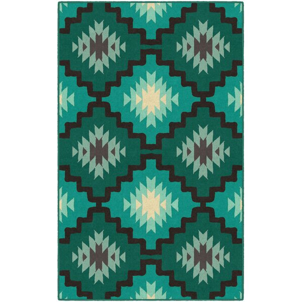 Hutson Green/Blue Area Rug by Union Rustic