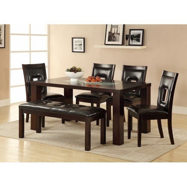 Bishop  6 Piece Solid Wood Dining Set by Red Barrel Studio