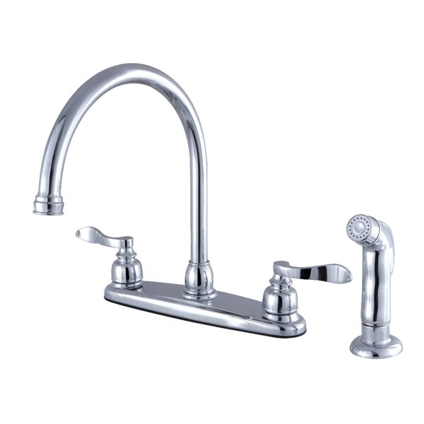 Gooseneck Kitchen Faucet with Side Sprayer by Kingston Brass