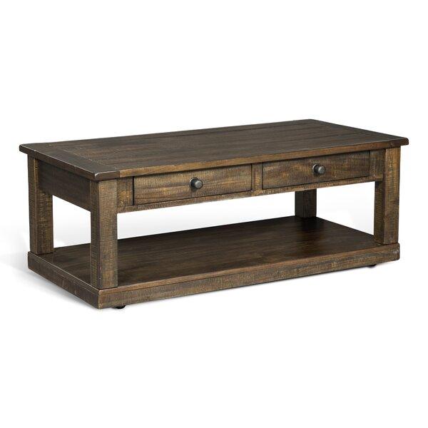 Gracie Oaks Wood Top Coffee Tables
