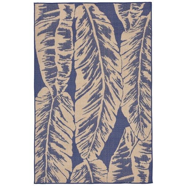 Lambert Banana Leaf Blue Indoor/Outdoor Area Rug by Bay Isle Home