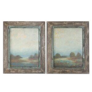 'Morning Vistas' 2 Piece Framed Painting Print Set by Laurel Foundry Modern Farmhouse