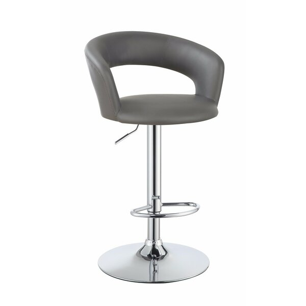 Wuest One Piece Adjustable Height Swivel Bar Stool by Orren Ellis