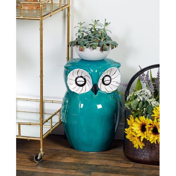 Ceramic Owl Stool by Cole & Grey