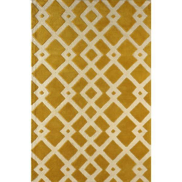Glenside Hand-Tufted Gold/Ivory Area Rug by Mercer41