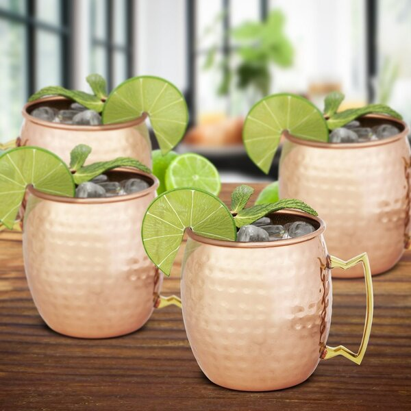 Jeff 22 oz. Copper Moscow Mule Mug (Set of 2) by Charlton Home