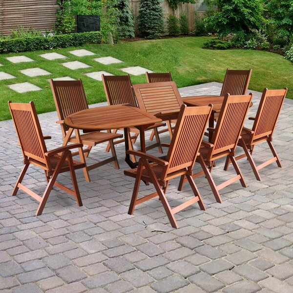 Monterry 9 Piece Dining Set by Beachcrest Home