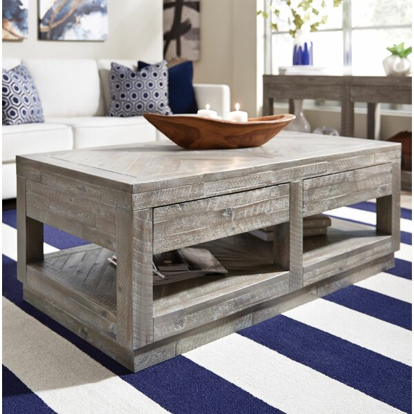 Roberge Coffee Table With Storage By Union Rustic