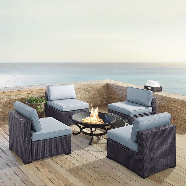Dinah 5 Piece Conversation Set with Cushions by Highland Dunes
