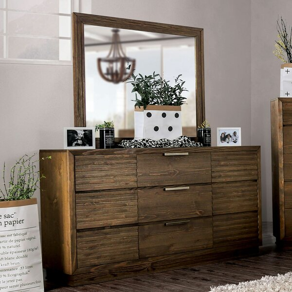 Buffington 9 Drawer Combo Dresser with Mirror by Loon Peak