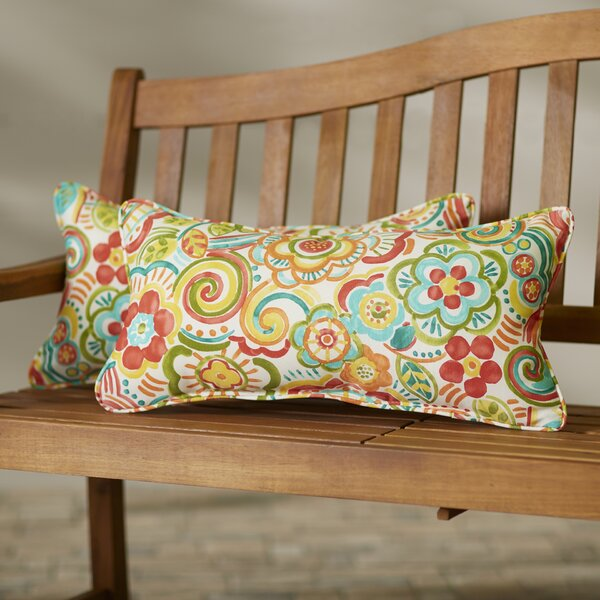 Rische Indoor/Outdoor Lumbar Pillow Set (Set of 2) by Red Barrel Studio