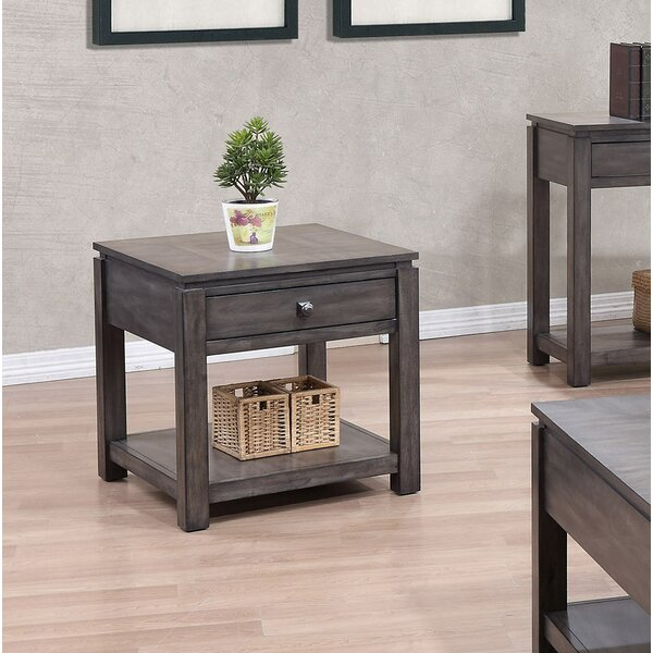 Woodville End Table by Three Posts