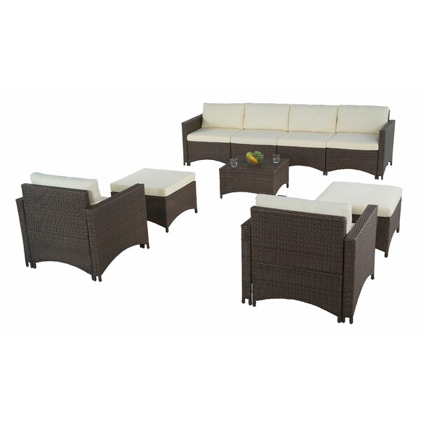 Gulfport 6 Piece Sofa Seating Group with Cushions by Ebern Designs