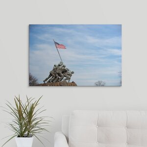 'Marine Corps War Memorial, Washington, DC' Photographic Print on Wrapped Canvas by Great Big Canvas
