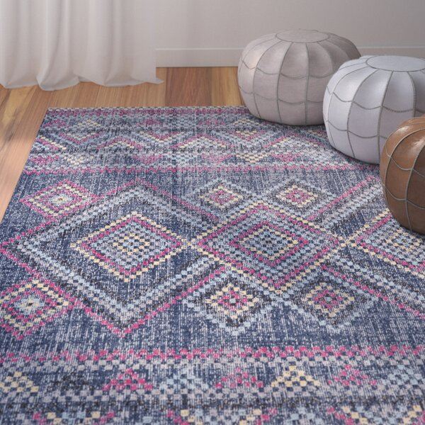 Schifflange Teal Area Rug by Bungalow Rose