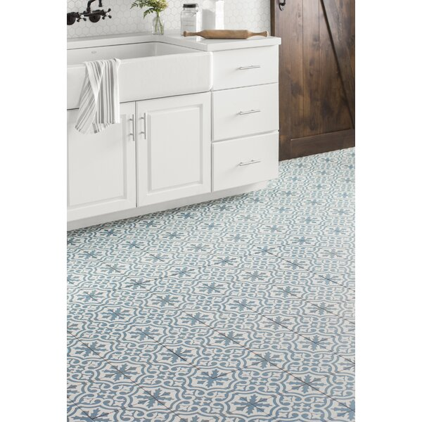 Alameda 17.63 x 17.63 Ceramic Field Tile in Blue/White by EliteTile