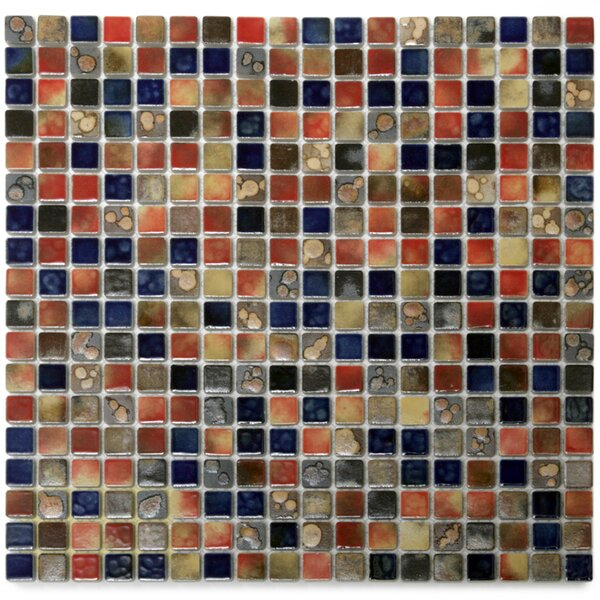 Terrene 0.6 x 0.6 Porcelain Mosaic Tile in Claypso Multi by Solistone