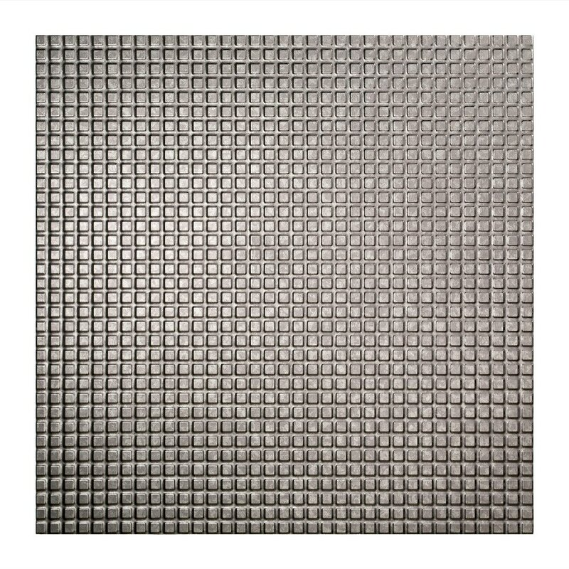 Fasade Square 2 Ft X 2 Ft Lay In Ceiling Tile In Galvanized Steel