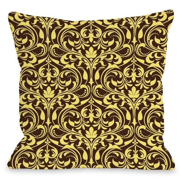 Athena Florals Throw Pillow by One Bella Casa