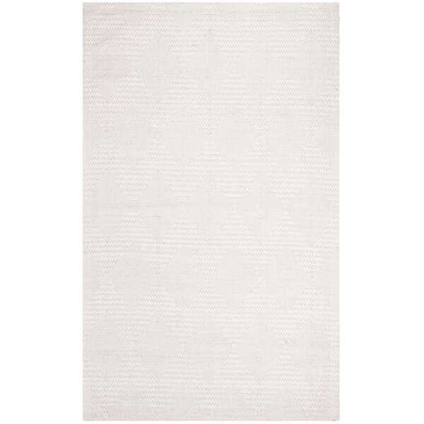 Burner Hand-Woven Silver/Ivory Area Rug by Highland Dunes