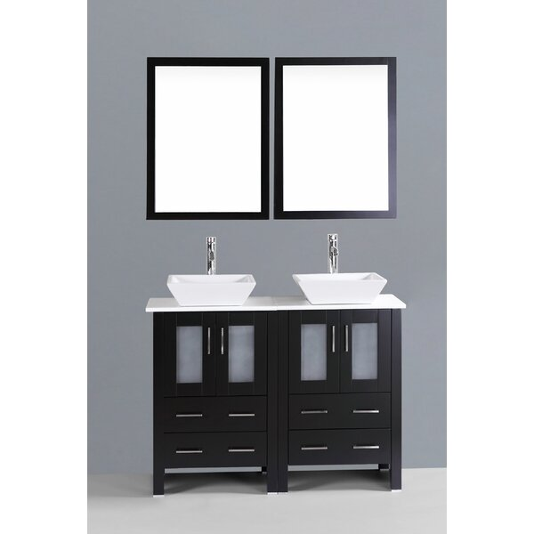 Netto 47 Double Bathroom Vanity Set with Mirror by Ebern Designs
