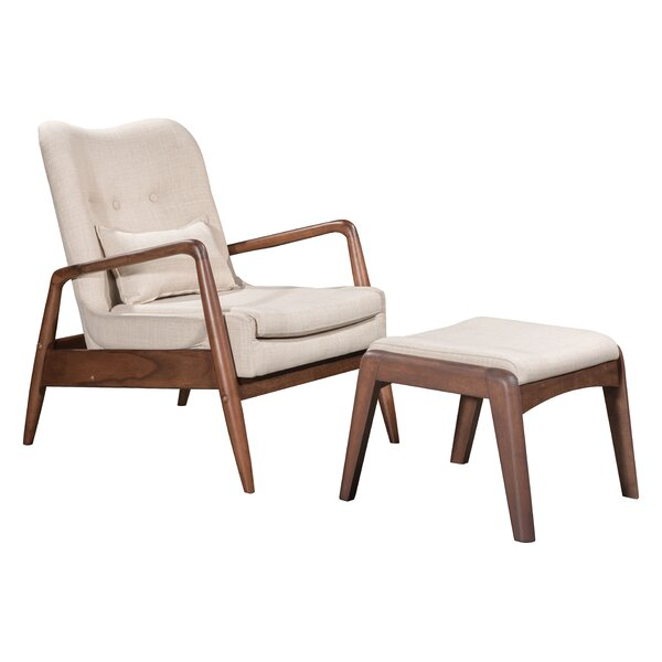 Marlowe Lounge Chair and Ottoman by Corrigan Studio