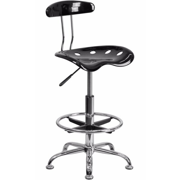 Tractor Adjustable Height Swivel Bar Stool by Offex