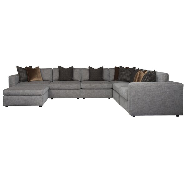 Stafford 162.5 Reversible Modular Sectional with Ottoman