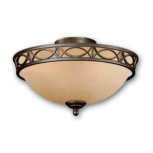2-Light Bowl Ceiling Fan Light Kit