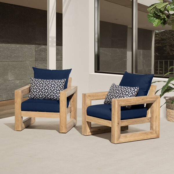 Carli Patio Chair with Cushions (Set of 2) by Longshore Tides