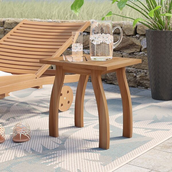 Sky Solid Wood Side Table by Highland Dunes