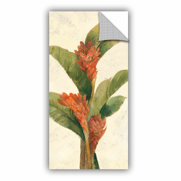 Ginger Blossom on White Wall Decal by Bay Isle Home