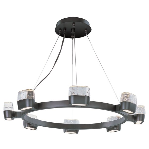 Cabrera 16-Light LED Wagon Wheel Chandelier by Orren Ellis