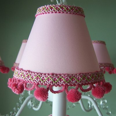 Fairytale 7 H Fabric Empire Lamp Shade ( Screw On ) in Pink