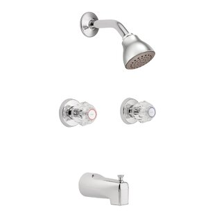 Chateau Tub and Shower Faucet with Knob Handles ByMoen