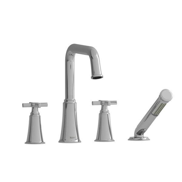 Momenti Double Handle Deck Mounted Roman Tub Faucet by Riobel Riobel