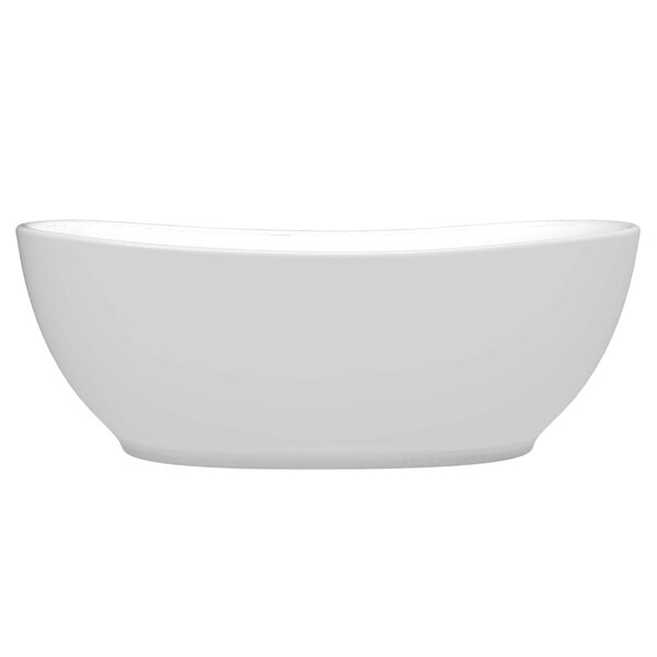 Melfi 67 x 32 Freestanding Soaking Bathtub by Vinnova