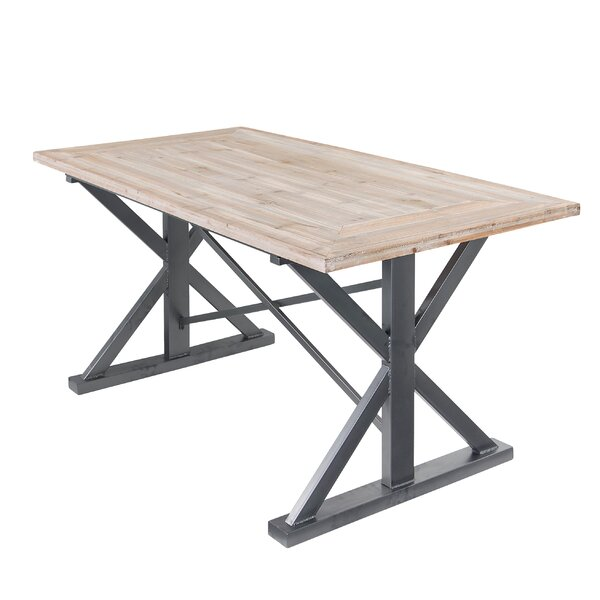 Dawson Rustic Solid Wood Dining Table by Varaluz