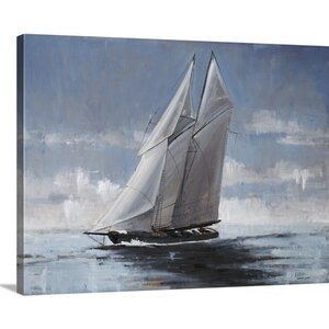 'Full Sail' by Joseph Cates Painting Print on Canvas by Great Big Canvas