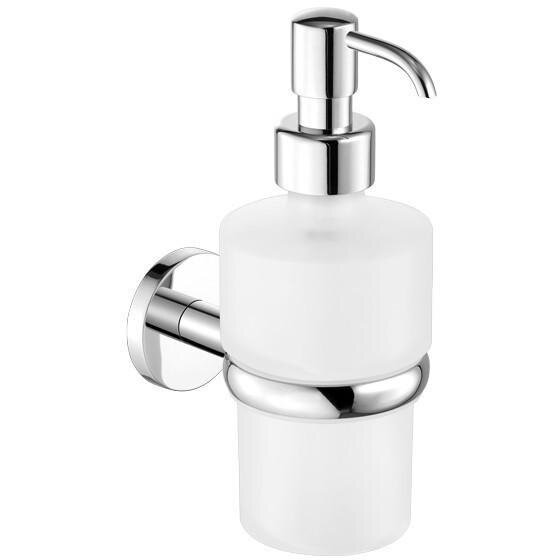 Manzi Corner Wall Frosted Glass Soap & Lotion Dispenser by Latitude Run