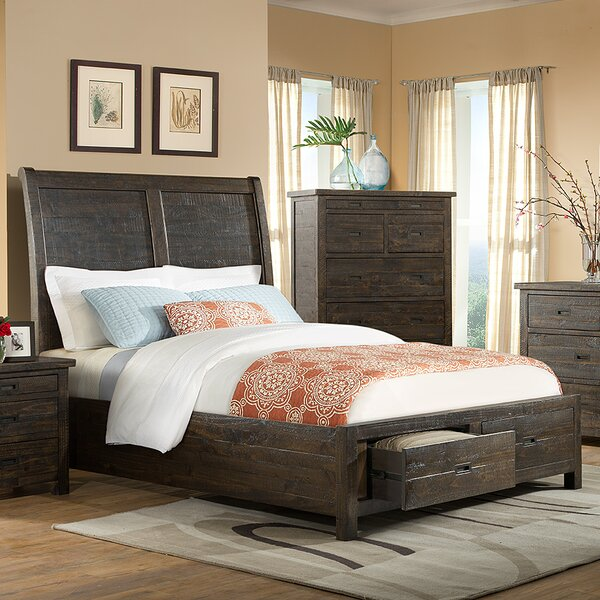 Burkhalter Pines Storage Sleigh Bed by Union Rustic