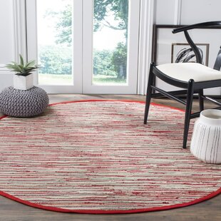 Shatzer Handwoven Red Area Rug by Wrought Studio